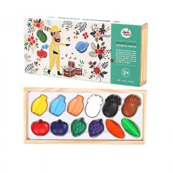 Крейди воскові кольорові фрукти Jar Melo