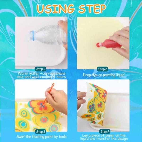 Малювання на воді творчий набір для мармурування jar melo