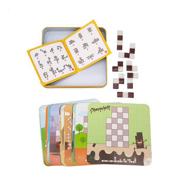 Магнітна гра «Тетріс» з картками