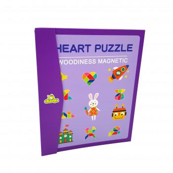 Магнітний «Танграм» Серця у вигляді книги