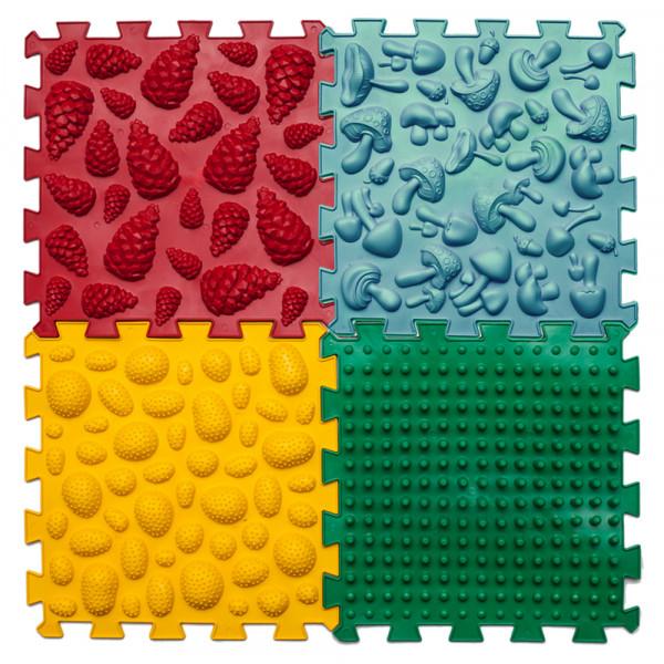 Ортек килимок масажний Пазли Мікс 4 елементи